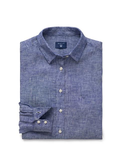 Gant %100 Keten Gömlek Mavi